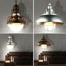 Vintage Hänge Lampen Decken Flur Leuchten Pendel Strahler Käfig Glas Living-XXL