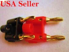 4 pcs Double Speaker Banana Plug Audio Connector 2 Red 2 Black E0538 USA Ship