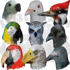 Latex Realistic Animal Crow Eagle Woodpecker Dove Pigeon Humming Bird Dress Mask