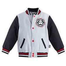 Disney Store Star Wars Stormtrooper Boy Varsity Jacket Size 7/8
