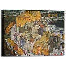 Schiele isola town design quadro stampa tela dipinto telaio arredo casa
