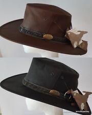JACARU NEW Australian MENS UNISEX ROO NOMAD TRAVELLER REAL LEATHER HAT 1111