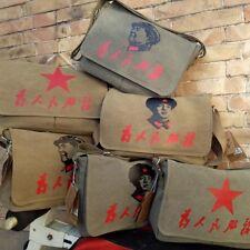 Soldier's Chairman Mao Canvas Shoulder Messenger Bags Satchel Lei Feng Pentagram