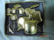 Drumkit Correa Hebilla baterista banda de rock and roll platillos.