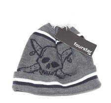 Fourstar Clothing Skateboard Pirate Skull Chain Pom Knit Beanie