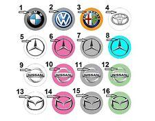 "1.25"" Pinback / Fridge Magnets / Flatback Buttons Car Logo Mersedes Nissan Mazda"