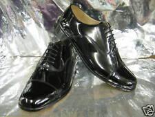 Men Grenson Paddington Black Patent Leather Dress Shoes