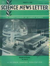 1955 Science News Letter: Model for Atomic Power Cover