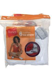 Hanes®  Women's Comfort Toe Seam 6/10 paris cushion no-show fit shoe size 5-9