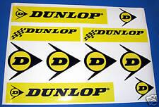 Dunlop retro rally race car motor bike sticker decals