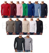 Next Level - Men's Premium Long Sleeve Crew T-Shirt Basic Plain Athletic L/S Tee