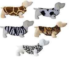 Dog Jumper Jag Cow Zebra Tiger Giraffe FLEECE Sweater Pullover Coat Vest XXS-L