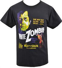 Camiseta para hombre Negro Bela Lugosi White Zombie ROB Culto Terror B-Movie S - 5XL