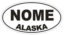 Nome Alaska Oval Bumper Sticker or Helmet Sticker D1654 Euro Oval