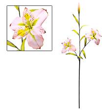 "Pink Alstroemeria Peruvian Lily 29"" Stems Artificial Silk Flowers _207-02P"