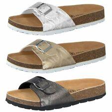 Camprella Ladies Deep Footbed Mules Sandals 1-Schnaller