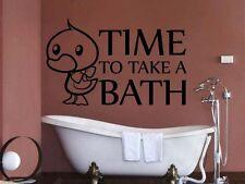 Tiempo Para Baño Pato Baño pegatinas de pared arte Habitación Decoración Wc Bat 56