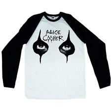 Alice Cooper 'OCCHI'S Manica Lunga Maglietta da Baseball-Nuovo e Ufficiale!