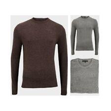 Maglione Maglia Uomo Pullover girocollo lana manica lunga inverno caldo sottile
