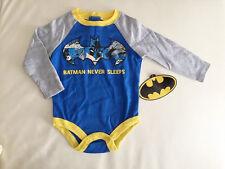 1387498430de5 Licensed   Batman Never Sleeps   Cotton Baby Boys Bodysuit ...