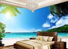 Shinny Summer Tropical Beach Full Wall Mural Photo Wallpaper Print Home 3D Decal