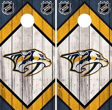 Nashville Predators Cornhole Wrap NHL Wood Game Board Skin Set Vinyl Decal CO353