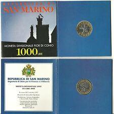 SAN MARINO SERIE SET FDC UFFICIALE ZECCA 1997 LIRE 1000 BIMETALLICO RARA