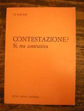(RELIGIONE-TEOLOGIA) D'AVACK: CONTESTAZIONE