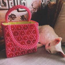 ea7c057981d2 Womens Handbag Weave Crystal Bag Beaded Pearl Hexapetalous Flowers Clutch  Bag