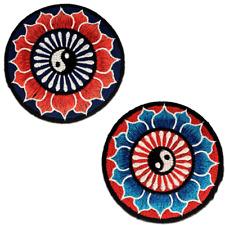 Parches - Lotus yin Yang espiritual - varios colores seleccionables - Ø8 cm - te