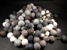x F75 Mix Natural color wool felt ball 2cm/20mm handmade craft nursery garlands