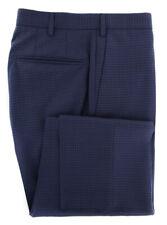 $475 Incotex Dark Blue Micro-Check Pants - Slim - (IN-S0T030-6404-810)