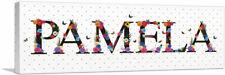 ARTCANVAS PAMELA Girls Name Room Decor Canvas Art Print