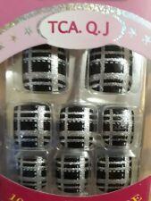 24pcs/set Fake Toe Foot Nails Sticker Glitter Acrylic Nail Tips Decoration
