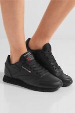 NIB REEBOK CLASSIC Leather Sneakers in Silver Metallic  - BLACK  IT 38- IT 40