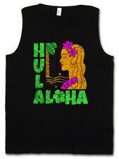 HULA GIRL TANK TOP Aloha Island Tiki Bar Sailor Beach Grill Tattoo Restaurant