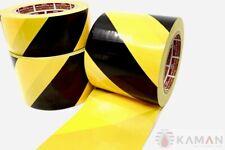 Bodenmarkierungsband PVC Warnmarkierung Gelb Schwarz Klebeband selbstklebend 30m