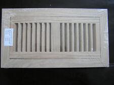 Flush mount oak grill, wood floor register vent. 2x10
