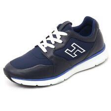 B7132 sneaker uomo HOGAN TRADITIONAL 20.15 scarpa H flock blu shoe man