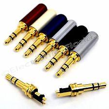 3.5mm 3 Pole Male Repair headphone Jack Plug Metal Audio Soldering b231