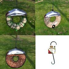 Hanging Wild Bird Feeder Seed Nuts Suet Fat Ball Feeding Station Table Donut New