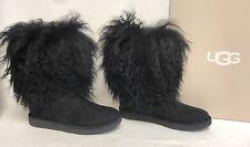 UGG Australia Lida RARE Black LONG MONGOLIAN SHEEPSKIN CUFF BOOTS 2017 1017516 s