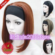 MEZZA Parrucca Parrucche 3/4 con parrucca di capelli sintetici Cerchietto Cosplay Partito parrucche/Parrucca Cap