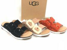UGG Australia Women's Fluff Indio Slides Sandals 1101049 Fuzz Buckle