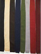 Strick Krawatten diverse Farben Retro Neuwertig (B354)