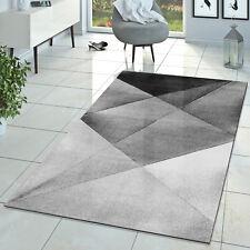 Teppich Kurzflor Teppich Zeitlos Abstrakt Muster Design Wohnzimmer Teppich Grau