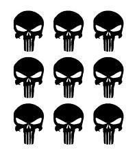 "The Punisher Skull 9 Vinyl Decals Gun Helmet American Sniper 1.5"" Stickers"