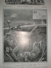 Ejército británico improvisado trinchera lanzagranadas 1914 impresión Antiguo