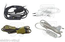 Anschlußkabel Anschlußleitung H03VVH2-F 2x0,75 mit Europastecker und Schalter