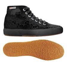 SUPERGA 2795 scarpe Pizzo MACRAME casual DONNA MACRAMEW MODA Prv/Est Nero 996vdr